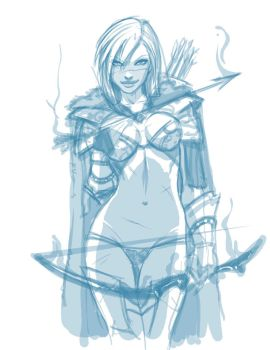 Ashe the frost archer WIP by Ganassa