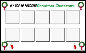 My Top 10 Favorite Christmas Characters (Meme) by TheFoxPrince11
