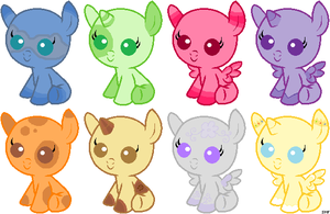 Free Draw-to-Adopt Baby Ponies~ :OPEN: by xRainbow-adoptsx