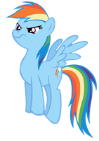 Rainbow Dash Disapproves by megaman295