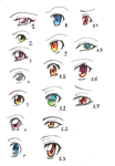 Manga eyes by Etsher