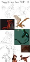 Scraped sketches from 2011-12 by Teggy