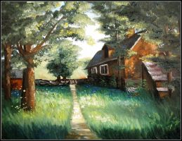 Landscape painting by JaZz-oR