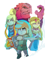 wind waker tribute cg by Link-artist
