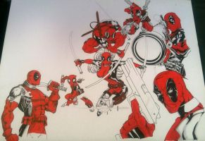 (WIP) Deadpool mania by SERGIOHSJR