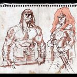 Conan and Red Sonja sketch. by dichiara
