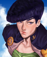 Josuke JJBA by irusunim