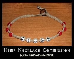 Commission- Hemp Camp Necklace by ElectrikPinkPirate