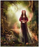 Annelise in the Faerie Realm by GingerKellyStudio