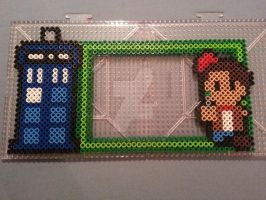 Doctor Who Perler Bead Magnetic Frame by AshMoonDesigns