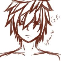 Gray Fullbuster sketch by WolfieANNE