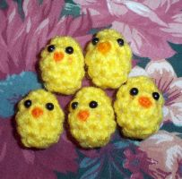 EasterBeans - ChickaBeans, Tiny Easter Egg Plush by happysquidmuffin