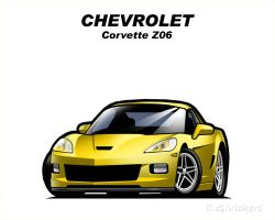 Chibi Chevrolet Corvette Z06 by CGVickers