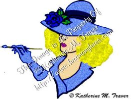 Painter Lady-in Blue by Katrina1944