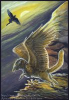 Gryphon Tarot - The Fool by silvermoonnw