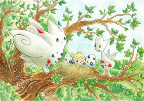PKM - Togepi's nest by Wingsie