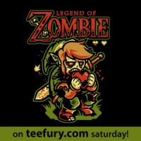 Legend of Zombie on teefury by Winter-artwork