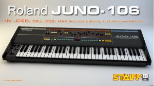 Roland JUNO-106 3d model by staiff