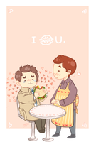 Dean x Cas x Hamburger by fangqian