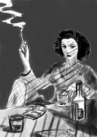 Film Noir Speed Paint by checkityall