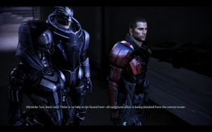 ME3 Sanctuary - Alan Shepard, Garrus and Tali by chicksaw2002