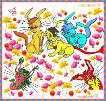 LovercAts_in the flowers by Starlightina88