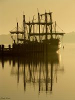 The Nina and The Pinta at Dawn by Emmaleah17