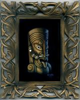 Maori Inspired Tiki by STF-Wooly