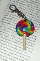 Rainbow lollipop charm by MeticulousBlue