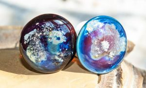 Ear Gauge Plugs: From Space by copperrein