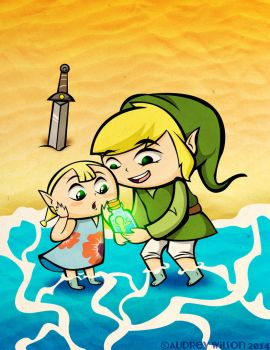 Link and Aryll by PoisonApple88