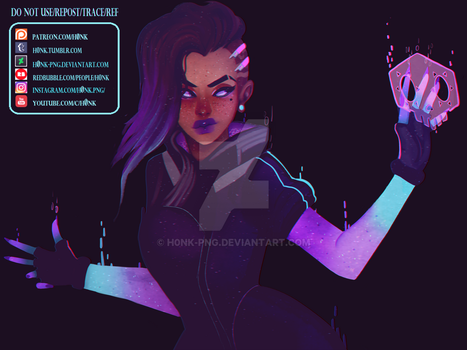 Overwatch || Sombra [Speedpaint} by H0nk-png