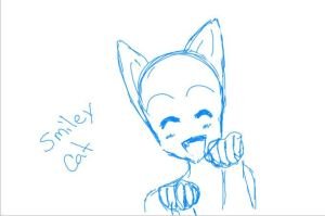 smiley cat base by inupuppy1412