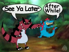 See you later Feraligatr, after while Krookodile! by LargerYeti