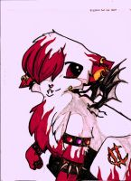 Fire Goth Cat by 1Rootbeer