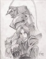 Edward and Alphonse Elric by kasun95