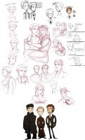 brothers karamazov -sketchdump by spoonybards