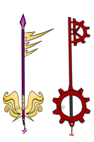 Eridan and Aradia keyblade by MissKvitulven