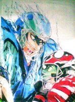 Shun VS Eyeshield 21 by alibolong