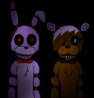 Fred and bonbon by Pinkwolfly