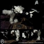 Miniature Black + White Dragon Poseable hairpieces by SonsationalCreations