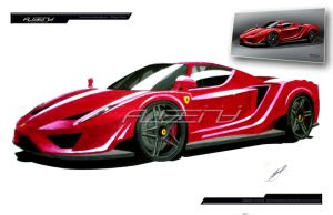 ferrari enzo paint by albeny