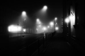 foggy night by dzorma