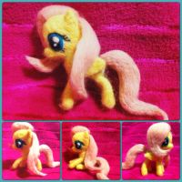 Needle Felted Posable Fluttershy! by StarlitCutesies