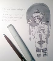 pen and marker challange by prince-no