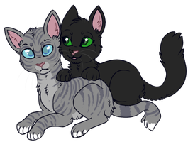 Jaypaw and Hollypaw by lulubellct