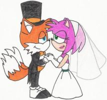 Tails and Amy Get Married by nintendomaximus