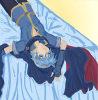 Marth on his bed colored by X-Tidus-kisses