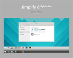 Simplify 8 Light Blue - Windows 8.1 VS by dpcdpc11