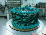 Peacock cake by TheForest